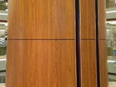 包柱铝单板厂木纹包柱铝单板万达广场弧形包柱铝单板