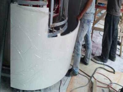 包柱铝单板厂 白色弧形铝单板大信新都汇室内包柱铝单板