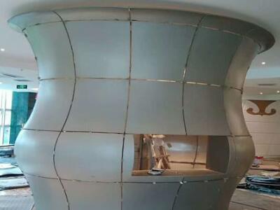 双曲铝单板 双曲铝单板 氟碳包柱双曲铝板