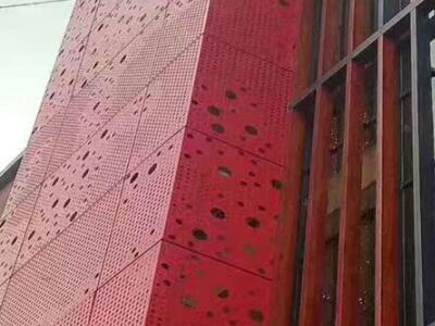冲孔铝单板是千疮百孔成就的艺术精品