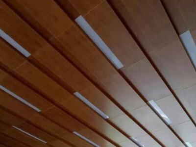 木纹铝单板幕墙万达广场外墙铝单板