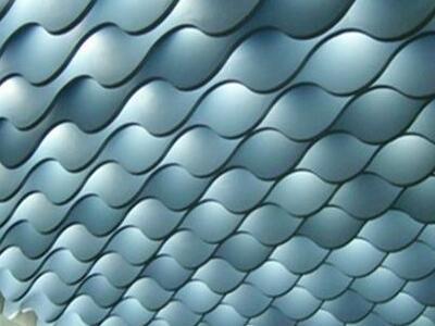 异形铝方通吊顶 餐厅氟碳波浪形铝方通造型