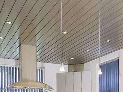 机场走道条形铝合金扣板吊顶 工装C型铝合金条扣吊顶