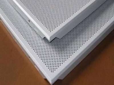 铝扣板厂 斜角600x600铝扣板 办公室微孔铝扣板 跌级铝扣板