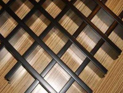 铝格栅厂家 铝合金装饰吊顶材料 木纹铝格栅吊顶